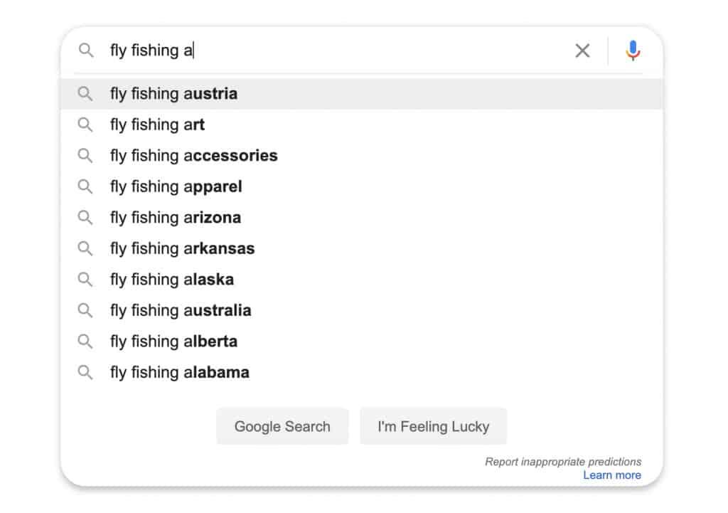 Google Autosuggest Feature Advanced