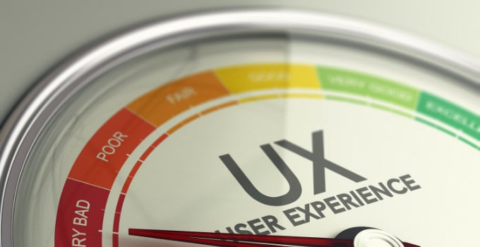 Picture shows a meter to measure user experience.