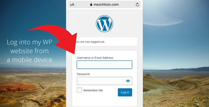 Login to WordPress from Mobile Device