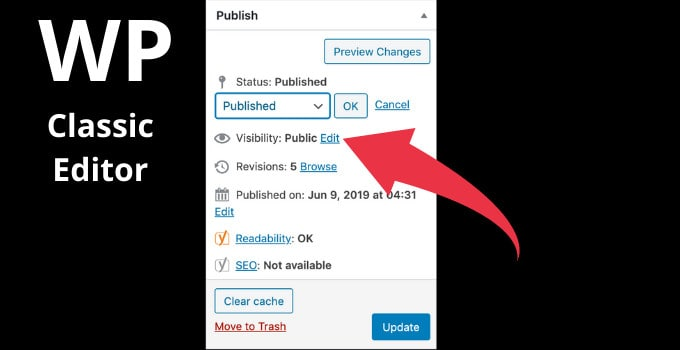 Unpublish Post in WordPress Classic Editor