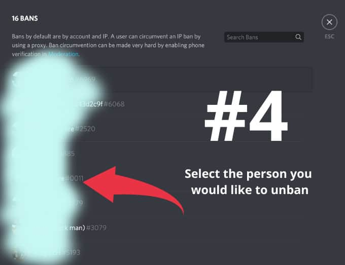How To Unban Someone on Discord Step 4