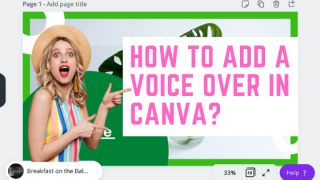 How to add a voiceover recording in Canva