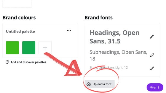 Brand Kit View in Canva