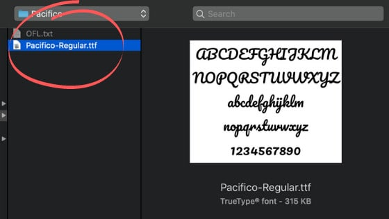 Upload the ttf font file to Canva