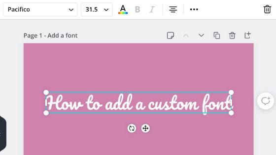 Use custom fonts in Canva