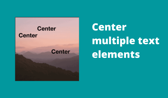 Center multiple text elements in Photoshop