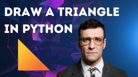 How to draw a triangle in Python