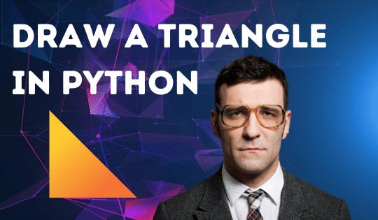 Draw a triangle in Python