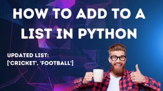 How to add to a list in Python