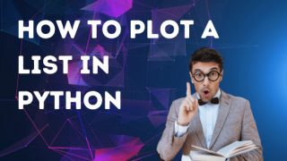 How to plot a list in Python