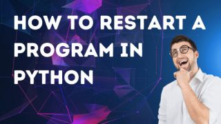How to restart a program in Python