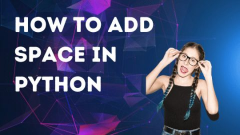 How to add space in Python