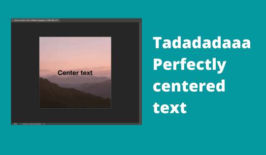 Perfectly centered text