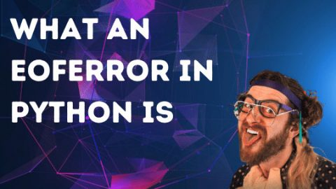 What an EOFError in Python is – Nailed it!