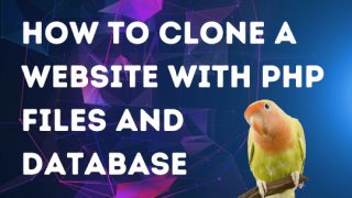 How to Clone a Website with PHP Files and Database