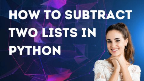 How to Subtract Two Lists in Python