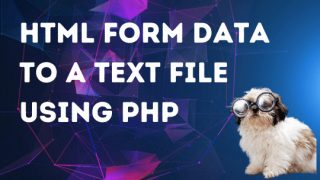 Save HTML form data to a text file using PHP