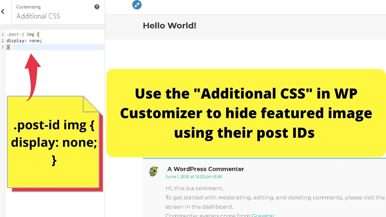 6 - remove with CSS