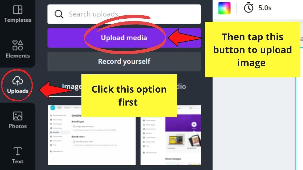 Uploading Image from Device