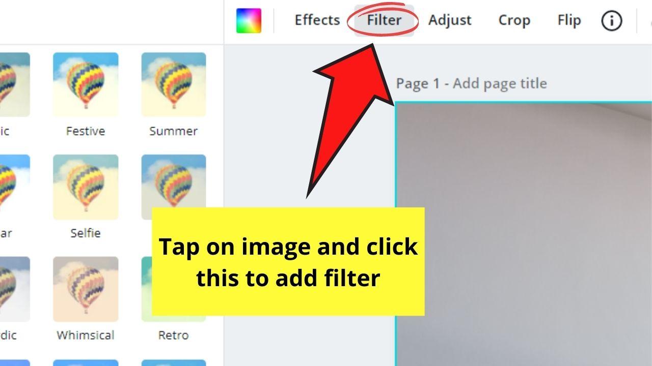 Adding Filter to Design