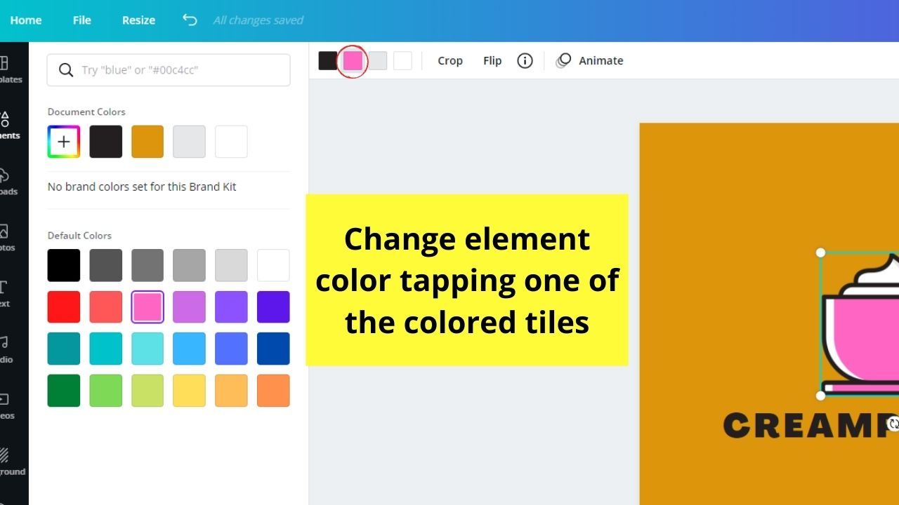 Changing Element Color