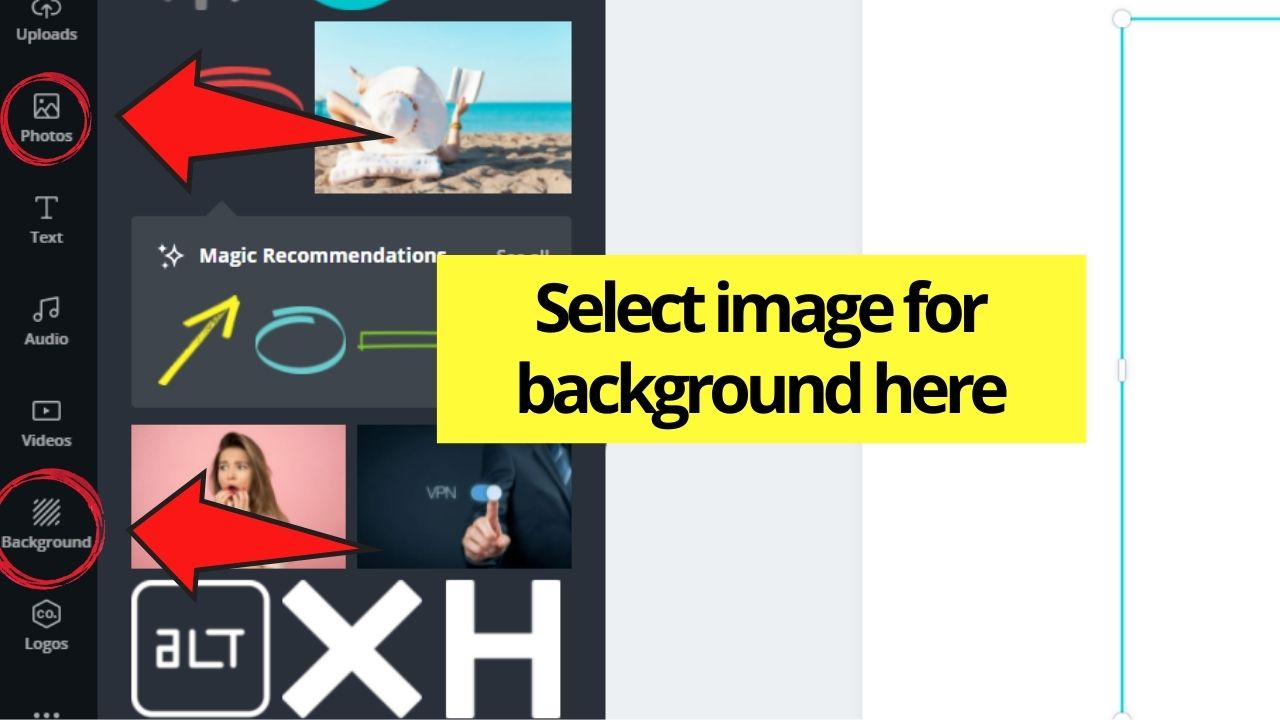 Choosing Background Image
