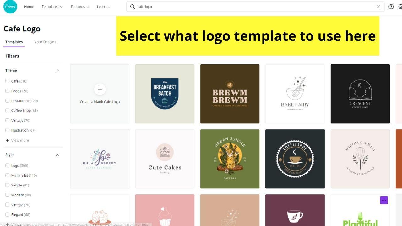 Choosing Logo Template to Use
