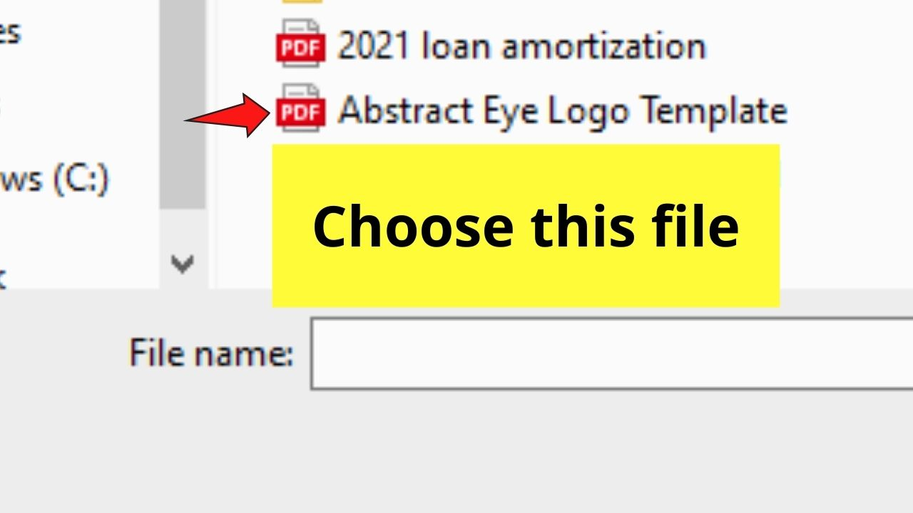Choosing PDF File from Device