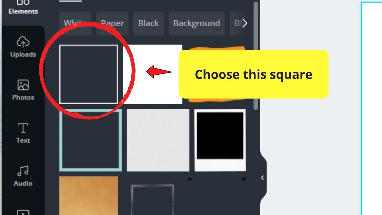 Choosing Square