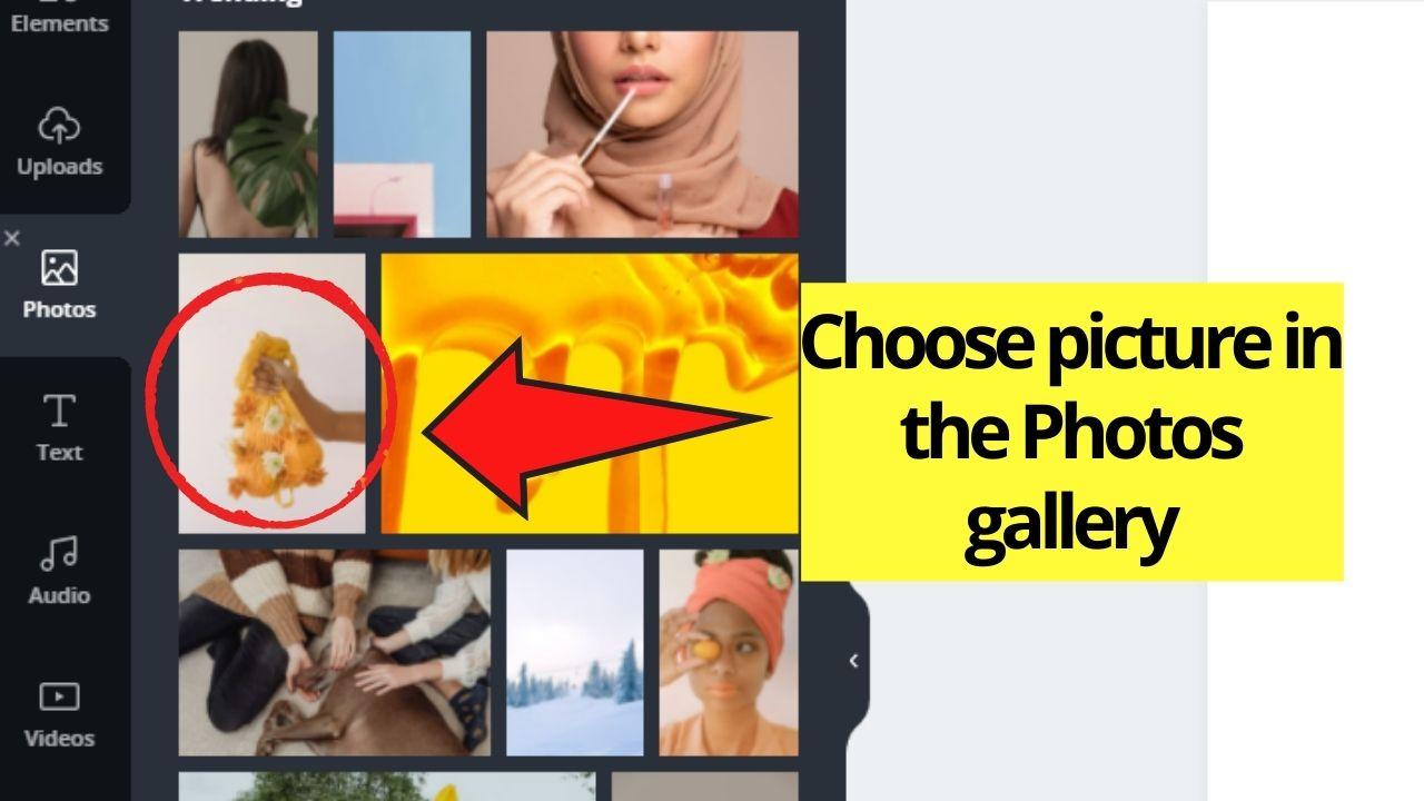 Choosing image to use