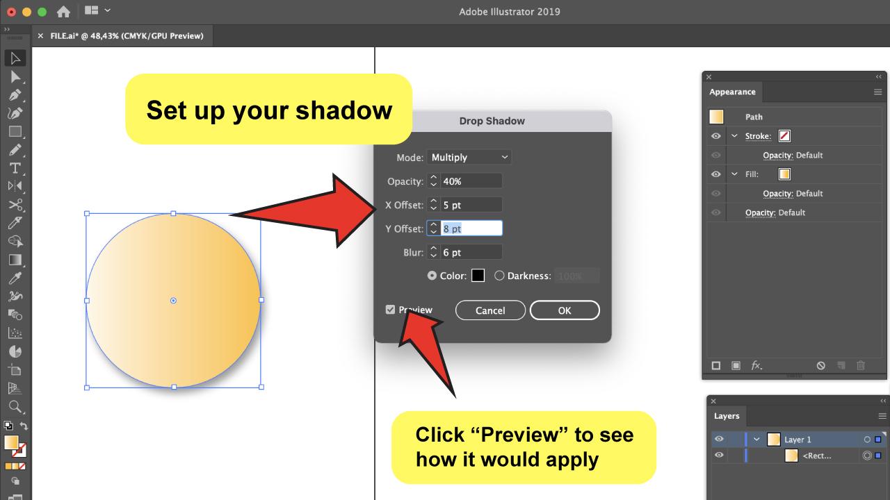 Create Drop Shadows in Illustrator Step 3
