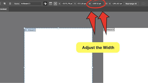 How To Change The Canvas Size in Illustrator Step 4