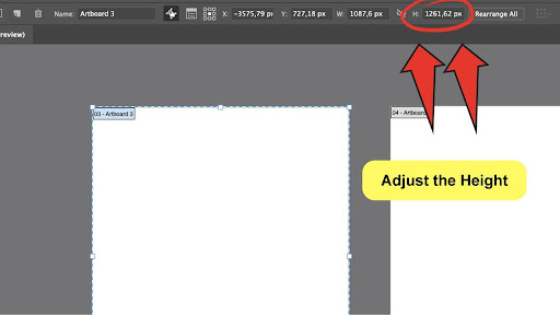 How To Change The Canvas Size in Illustrator Step 5