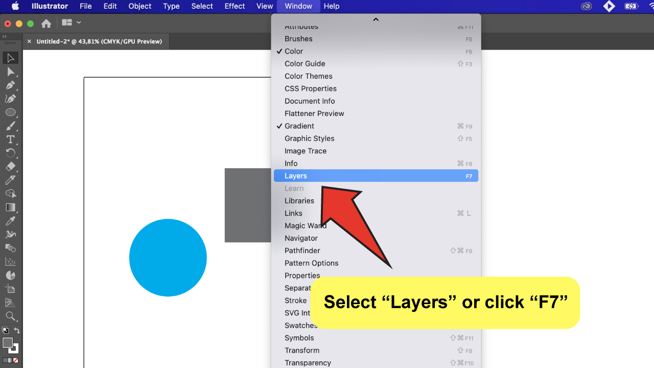 Merge Layers in Illustrator Step 2