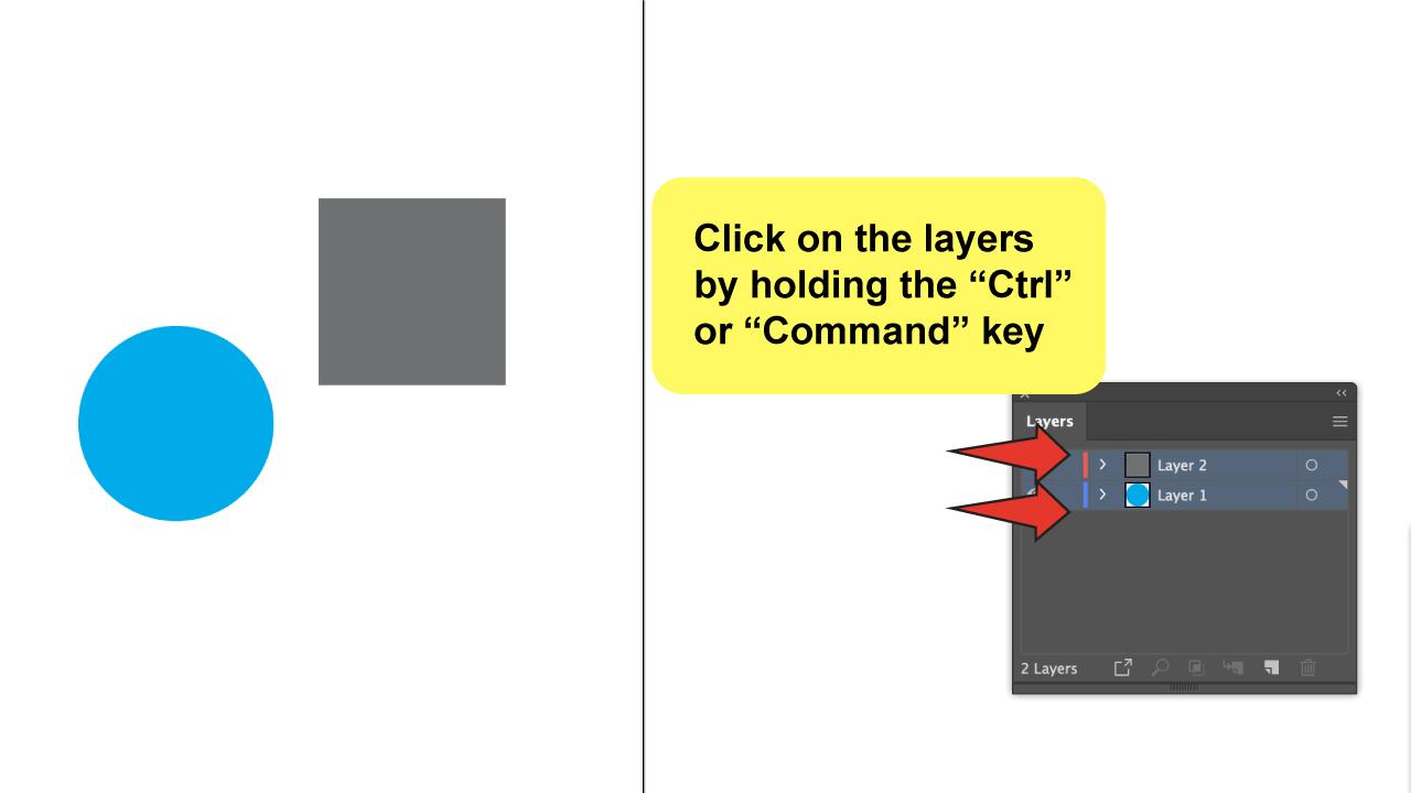 Merge Layers in Illustrator Step 3