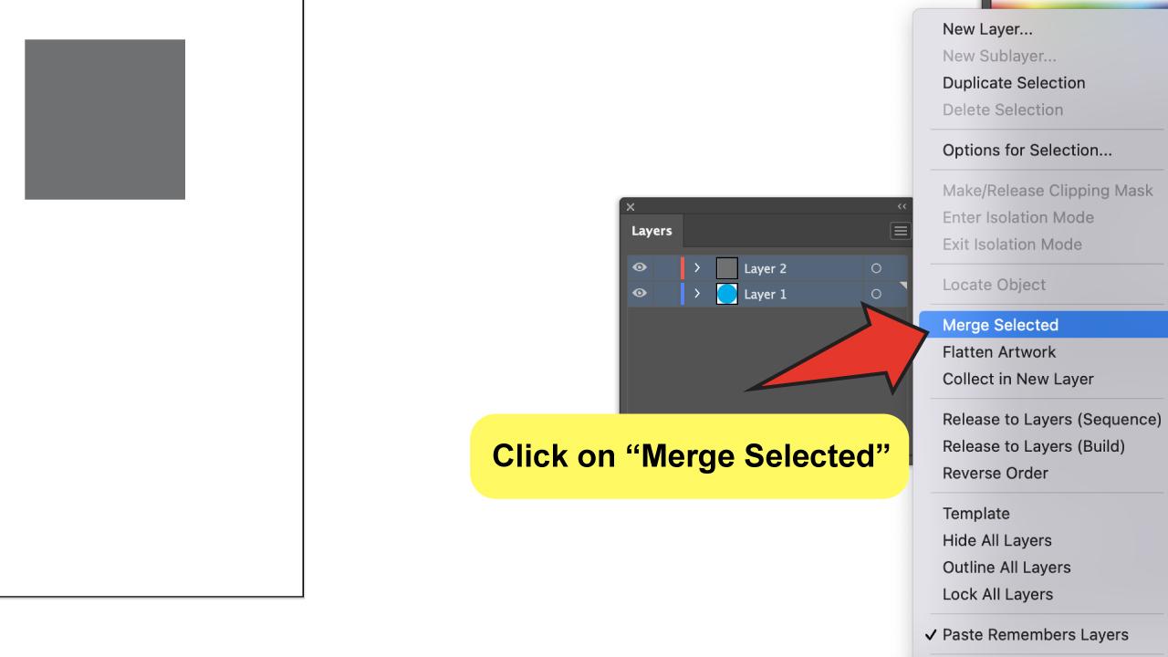 Merge Layers in Illustrator Step 4
