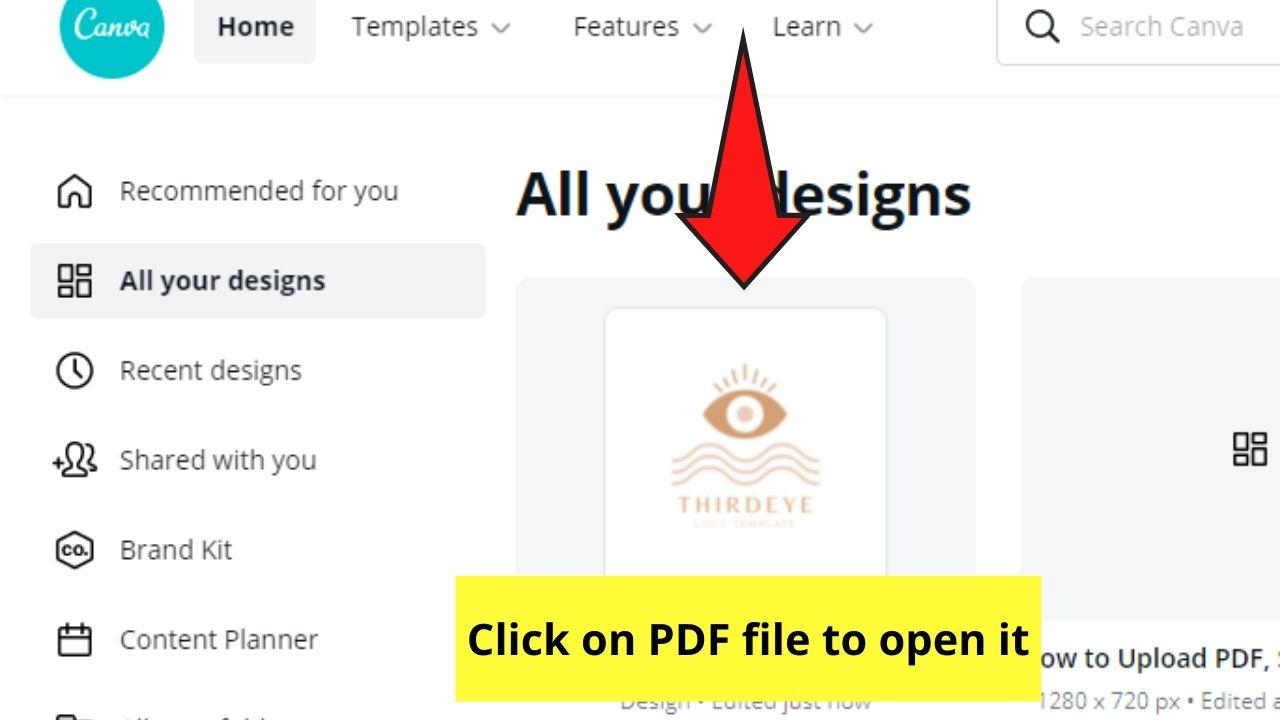 Opening PDF