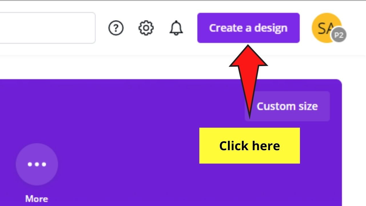 Tapping Create a Design Button