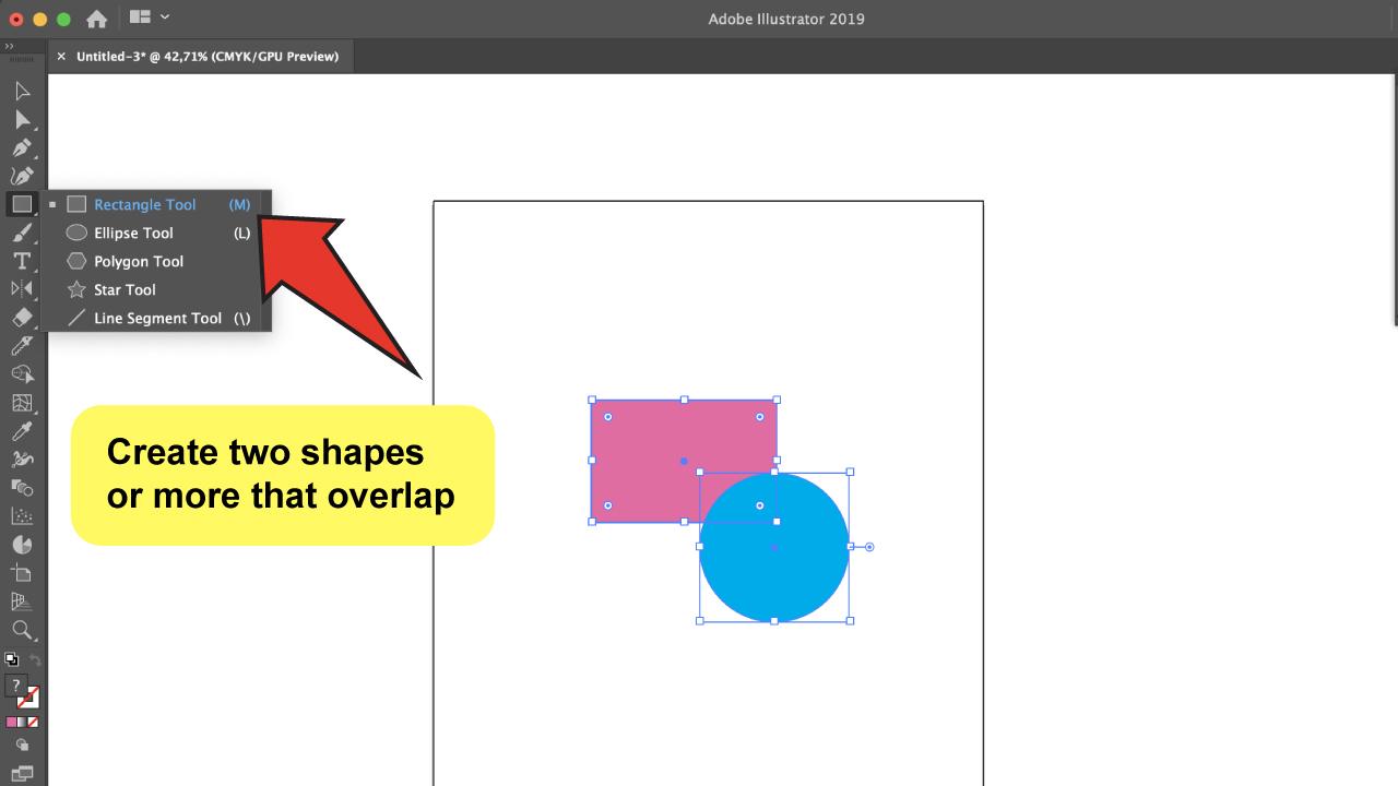 Use the Illustrator Shape Builder Tool Step 1