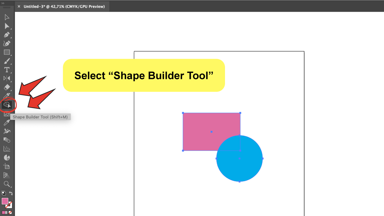 Use the Illustrator Shape Builder Tool Step 2