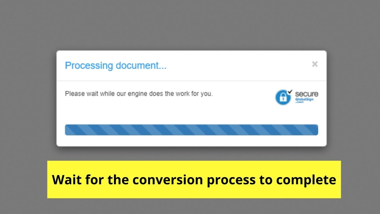 Waiting for Conversion Process to Finish