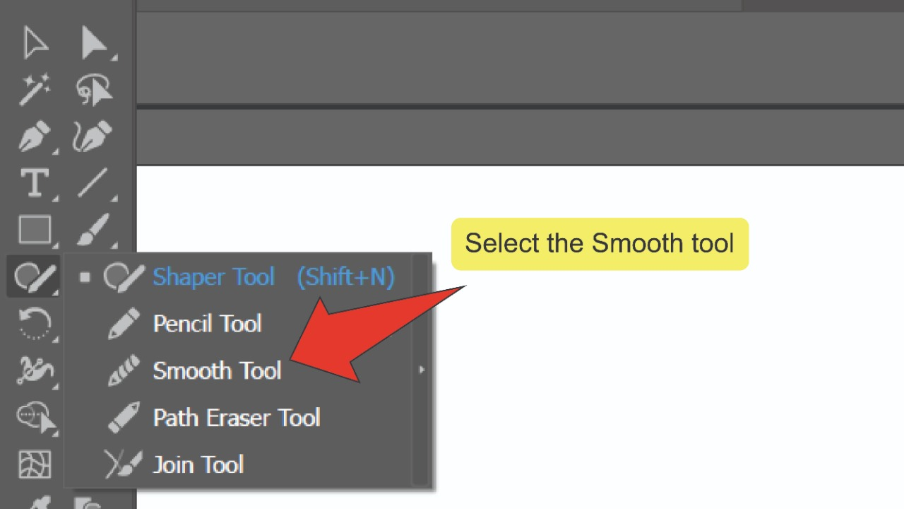 1. Smoothing Edges In Illustrator Using The Smooth Tool Step 3