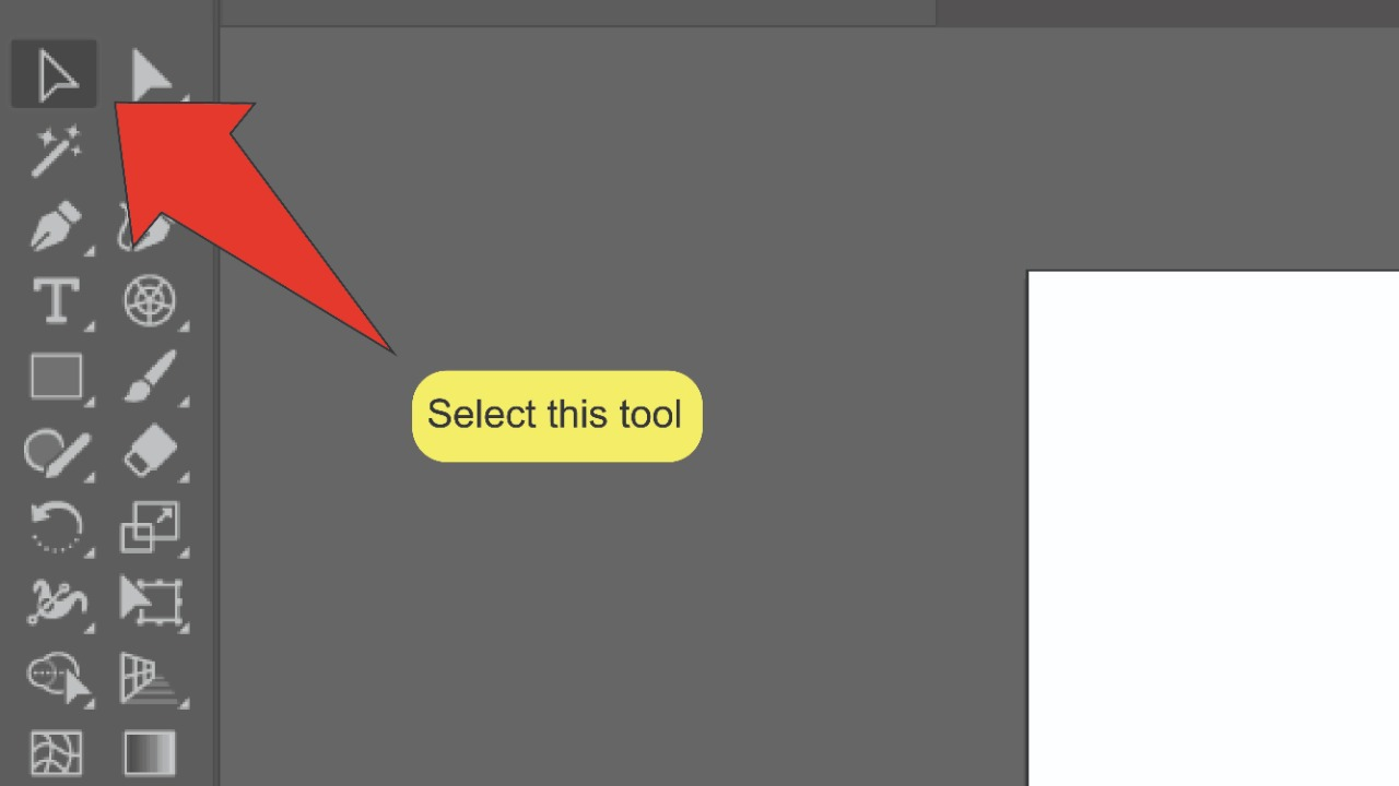 2. Smoothing Edges In Illustrator Using The Sub-selection Tool Step 1