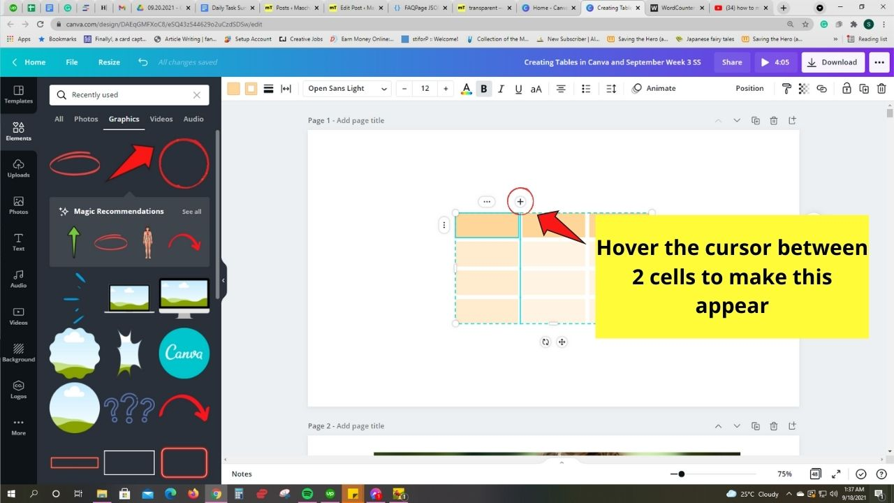 Adding Columns using Shortcut