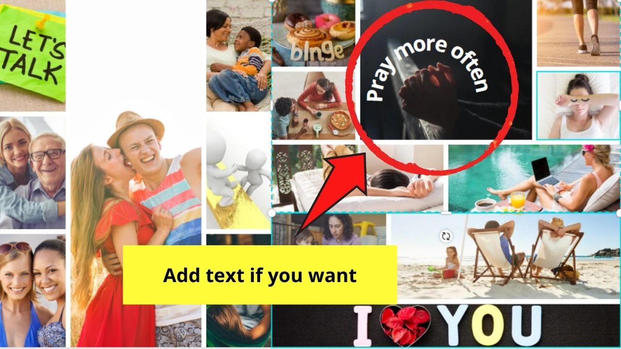 Adding Text to Vision Board