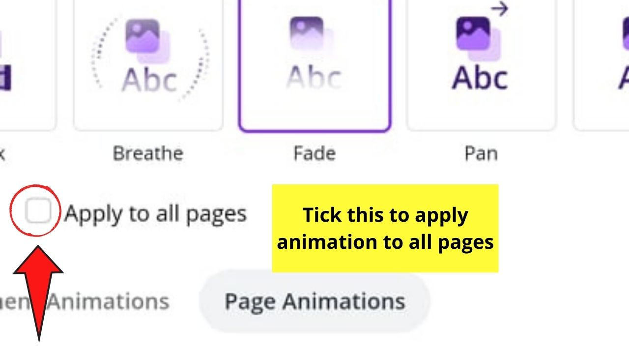 Apply Animation to All Pages