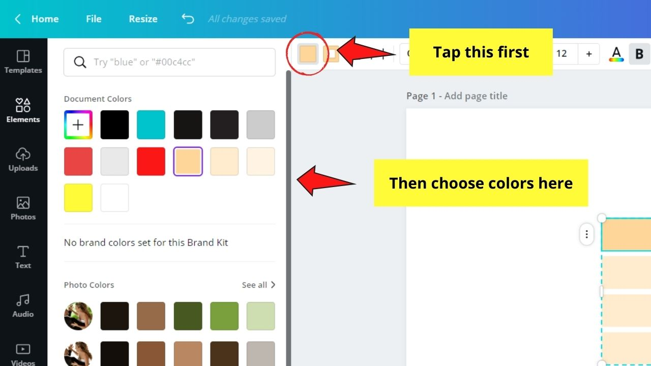 Assigning Header Row Color