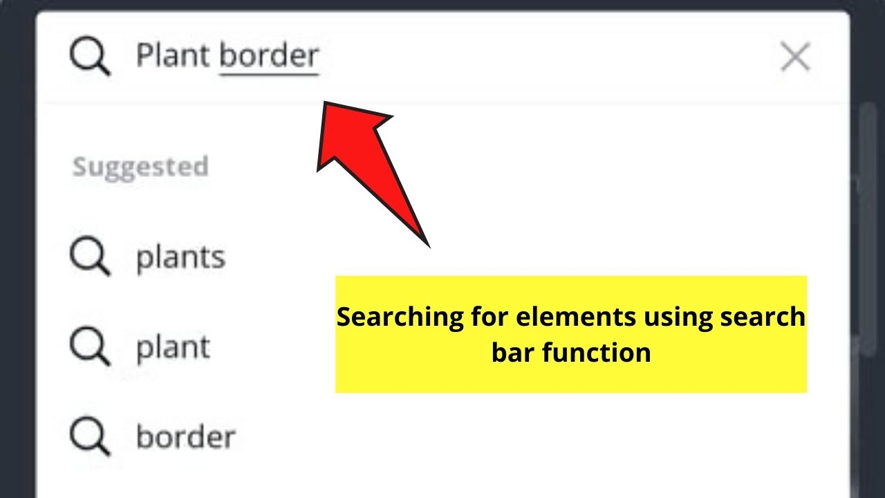 Browsing Elements through Search Button
