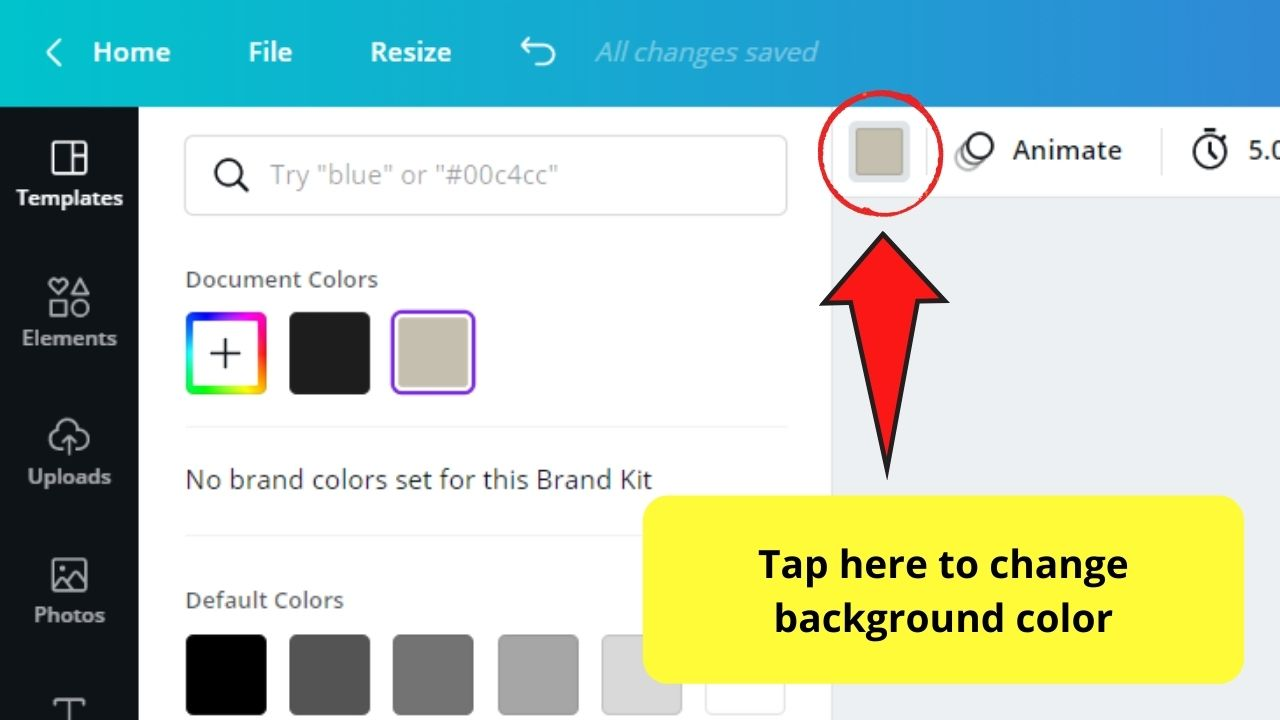Changing Background Color