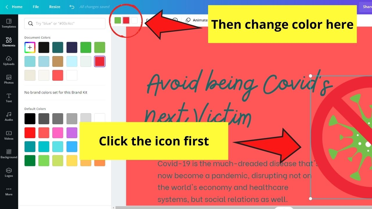 Changing Icon's Color Scheme